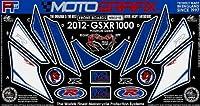 MOTOGRAFIX(モトグラフィックス) ボディパッド GSX-R1000 L2(12- FRONT ホワイト/ブルー MT-NS021B