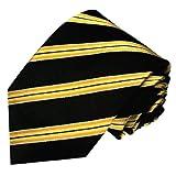 LORENZO CANA - Corbata - Rayas - para hombre Negro dorado