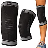 Gym Needs Knee Sleeve Support Brace - Best Men & Women Compression for Running, Crossfit, Recovery, Basketball, Lifting, Gym, Pain Relief, Stays in Place