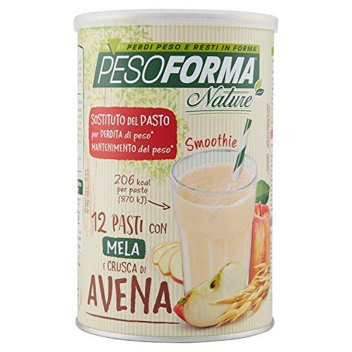 Pesoforma Nature Smoothie Pasto Sostitutivo Dimagrante Shake Mela e Crusca di Avena 207 Kcal - 12 Pasti