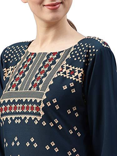 Vaamsi Women's A-Line Kurta (VPK1496_L_Blue_large)