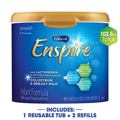 Enfamil Enspire Baby Formula Milk Powder & Refills, 102.5 Ounce, Omega 3 DHA, Probiotics, Immune...