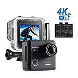 NEXGADGET 4K Action Kamera WIFI 16MP Wasserdichte Actioncam 170 Grad Weitwinkelobjektiv Camera mit...
