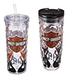 Harley-Davidson Flaming B&S Hot & Cold Tumbler Gift Set, 2-Pack, P4214900FLA