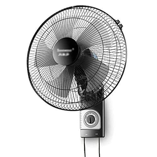 TOPNIU Wall Mounted Oscillating Fan Quiet Operation,Static & Wide Angle Oscillating Electric Fan Air Cooler,3 Speed Adjustable,for Home Office Gym Warehouse