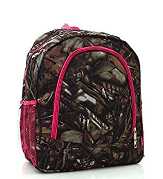 Pink Trim Camouflage Backpack
