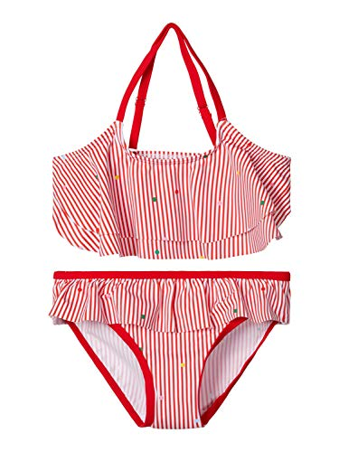 NAME IT Mädchen NKFZINITA Bikini-Set, High Risk Red, 146-152
