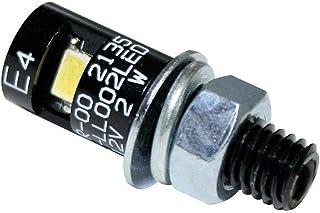 ShinYo LED Alu Nummernschildbeleuchtung M8 rund schwarz