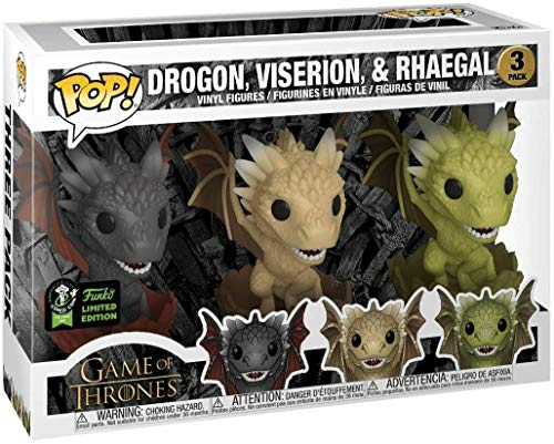 Funko Pop - ECCC 2020 - Tri Pack Game of Thrones - Dragon Egg - Bollino Shared