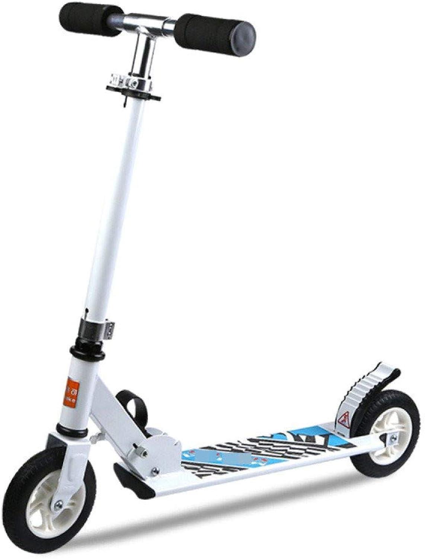 a la venta WYD Scooter de Dos Rondas Plegable para Niños Scooter Scooter Scooter de aleación de Aluminio Cochecito de Juguete Coche de Dos Ruedas Deportes al Aire Libre Altura Ajustable Peso 60 kg Salida fácil,blanco  salida