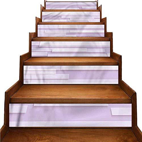 JiuYIBB - Adhesivos de vinilo para escaleras, cuadrados, círculos, resistentes a la humedad