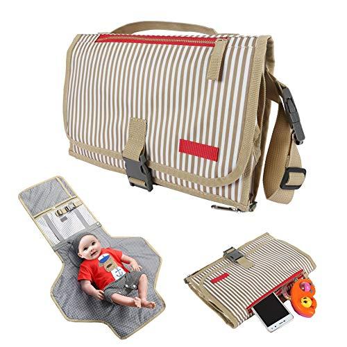 ZHANGXJ Pañal Cómodo Alargar Cambiador Portátil de Pañales para Bebé Impermeable Kits para Cambio de Pañales Multifuncional Plegables Esterilla para Viajar Bolsillo (Color : B)