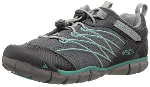 KEEN Chandler CNX Hiking Shoe, Steel Grey/Wasabi, 6 M US