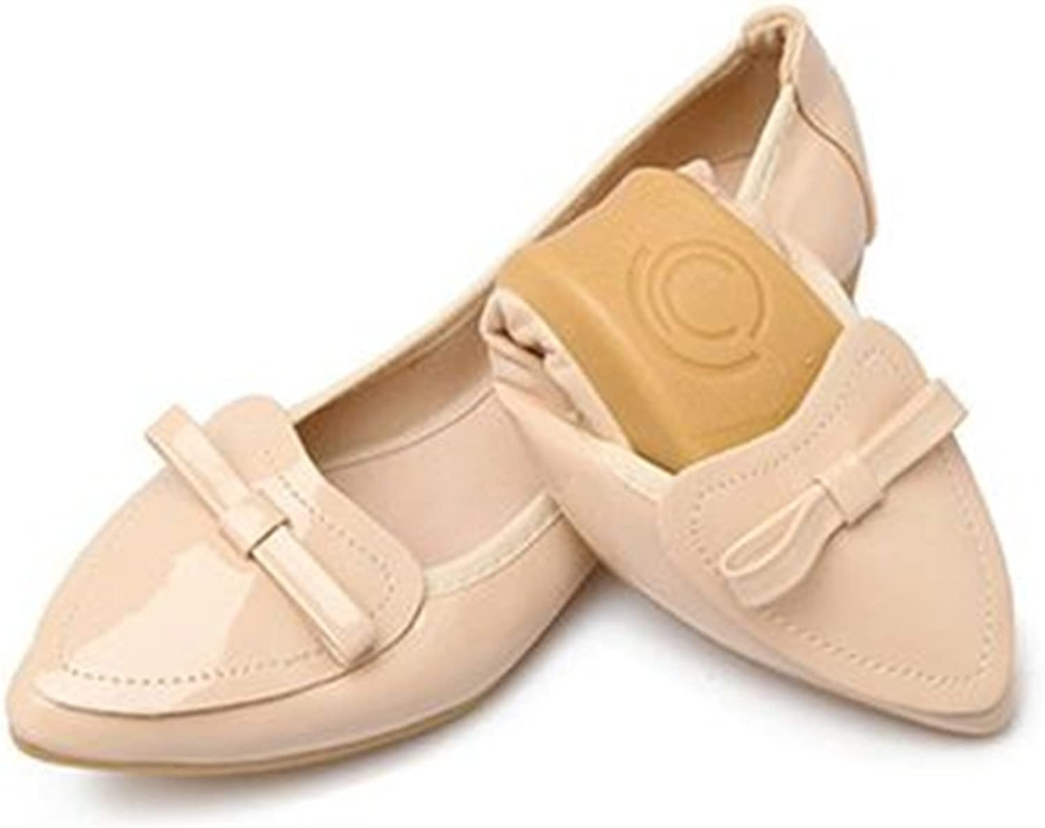 PRETTYHOMEL Foldable Ballet shoes Woman shoes Women Flats Women PU Leather shoes Pretty Boat shoes