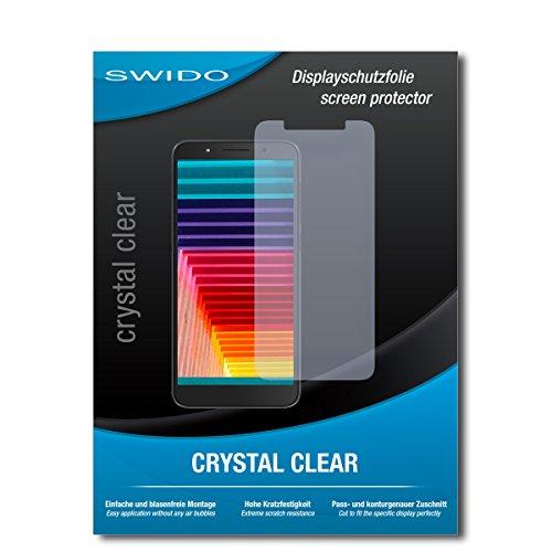 SWIDO Schutzfolie für Alcatel 1C [2 Stück] Kristall-Klar, Hoher Festigkeitgrad, Schutz vor Öl, Staub & Kratzer/Glasfolie, Bildschirmschutz, Bildschirmschutzfolie, Panzerglas-Folie