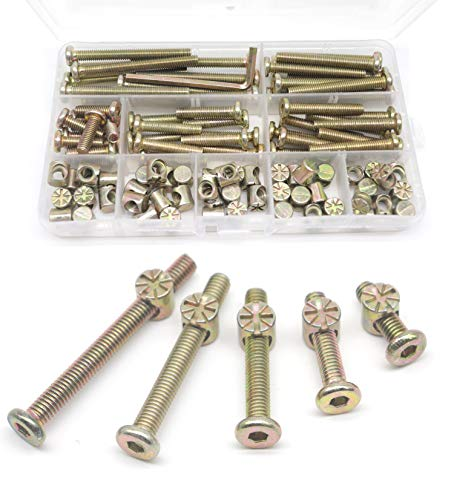cot bolts 4 sets of M6 x 100mm bolt Bed allen key /& 20mm barrel nut= 9 items