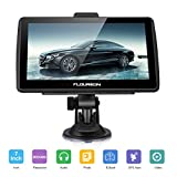 FLOUREON GPS de Coches Navigation Pantalla LCD capacitiva de 7 Pulgadas Sat Nav Navigator para camión y automóvil con actualizaciones de mapas de por Vida- Negro