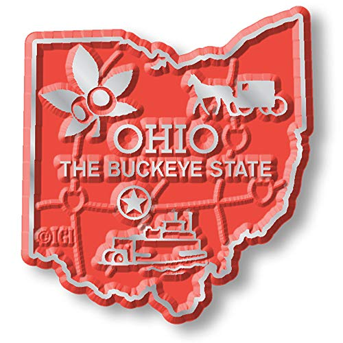 Ohio State Map Magnet
