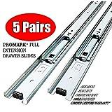 Promark Full Extension Drawer Slide-5 Pack (28 Inches-5 Pack)