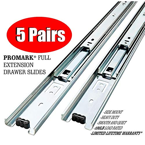 Promark Full Extension Drawer Slide (28 Inches-5 Pack)