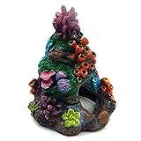 Gshy Decoraciones de Resina para acuarios Arrecife de Coral Pintura Artificial Colorida Adorno de Acuario Falso Adornos de diseño paisajístico