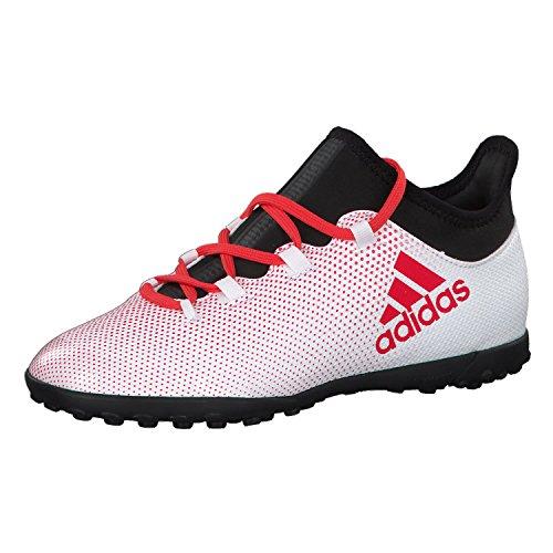 adidas Unisex-Child X Tango 17.3 Tf J Gymnastics Shoes, Mehrfarbig (Grey/Real Coral S18/core Black), 10.5K