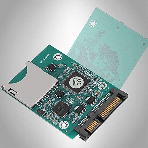 KSTE 22MB / s schnelle Übertragung SD/SDHC/SDXC/MMC-Speicherkarte 7 + 15P SATA Konverter-Adapter auf 2,5 Zoll