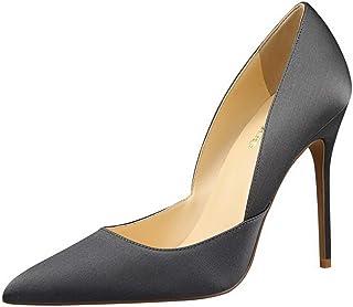 BalaMasa Womens APL12192 Pointed-Toe Closed-Toe Huarache Black Pu Heeled Sandals - 4.5 UK (Lable:38)