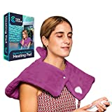 Cure Choice Electric Heating Pad for Neck & Shoulders, Ultra Soft Heating pad for Muscle Cramps –...