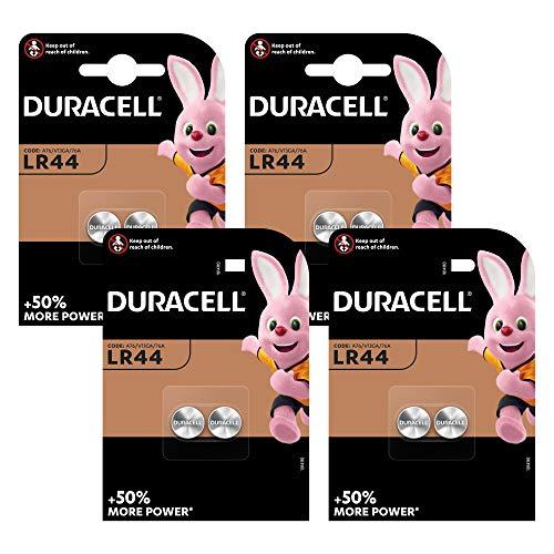 Duracell Specialty LR44 Alkali-Knopfzelle 1,5V, 8er-Packung (76A/A76/V13GA) entwickelt für die Verwendung in Spielsachen, Taschenrechnern und Messgeräten
