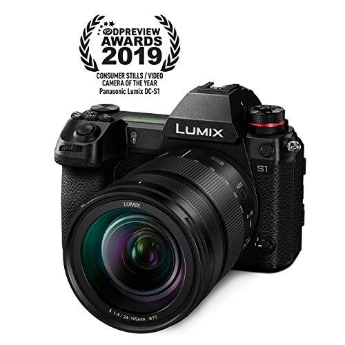 Panasonic LUMIX S1 Full Frame Mirrorless Camera with 24-105mm F4 L-Mount S Series Lens (Renewed)