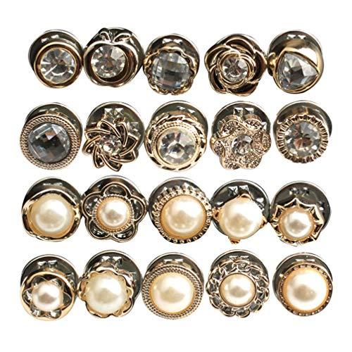 Heallily 40 Stück Druckknöpfe Strass-Druckknöpfe Pearl-Druckknöpfe Druckknöpfe zum Nähen von Lether DIY Crafts