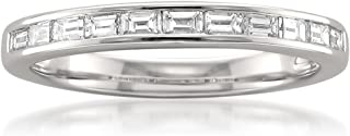14k White Gold Baguette Diamond Bridal Wedding Band Ring (1/2 cttw, I-J, VS2-SI1)