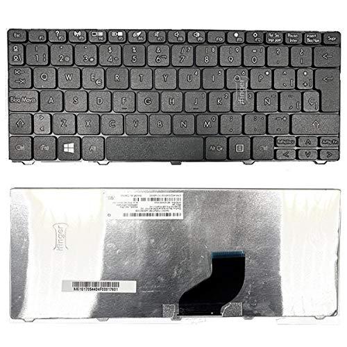 IFINGER Teclado Compatible ESPAÑOL Acer Aspire One NAV50 eMACHINES 350 (Ver Foto) Negro Repuesto