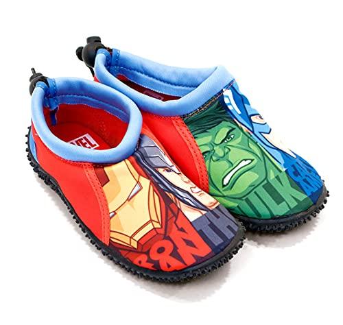 Zapatillas de playa descapotables para niños de Marvel Avengers Iron Man Capitán...
