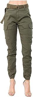 Pantalon de Chándal para Mujer Largos Pantalones Deportivos Pantalón,Moda Pantalones de Camuflaje Cargo Basculador de Cint...