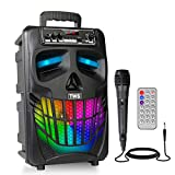 Portable Karaoke Machine Bluetooth Rechargeable PA Speaker System for Kids & Adults, Support FM radio, REC, USB/TF Card, AUX IN, Perfect for Indoor & Outdoor Party