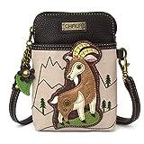 Chala Crossbody Cell Phone Purse - Women PU Leather Multicolor Handbag with Adjustable Strap - Goat - ivory