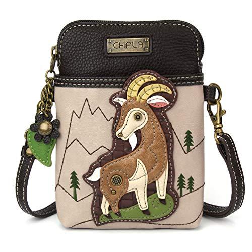 Chala Damen-Handtasche aus Segeltuch, mit verstellbarem Riemen, (Ziege - Elfenbein), Einheitsgröße