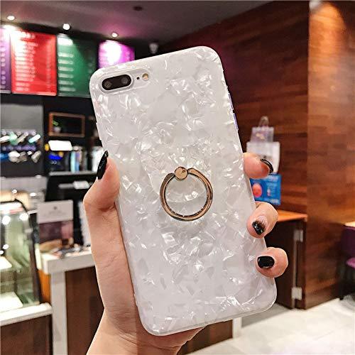 Akdyh beschermhoes voor iPhone 7 8 Plus XR XS Max Dream Shell patroon met ring Holder Case voor iPhone X 6 6S 7 8 Plus