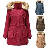 MOMOXI Abrigos y Chaquetas Chaqueta de Mujer de Moda Ropa de Abrigo de Invierno Abrigo de Mujer Abrigo Abrigo Corto Corto