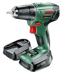 Bosch cordless screwdriver PSR 14,4 LI (1 battery, 14,4 Volt, in case)