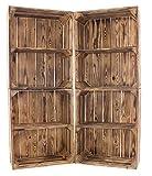 Vintage Möbel 24 GmbH 5X Schönes Bücherregal aus Holz in geflammter Optik, mit einem Mittelbrett, auch für Bücher/DVDs/CDs, neu, 50x40x22cm