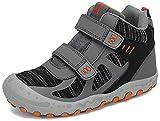 Mishansha Zapatillas de Trekking Niño Niña Ligeras Calzado Senderismo comodas Antideslizante Botas de Trekking para Exteriores Montaña, Gris 25 EU