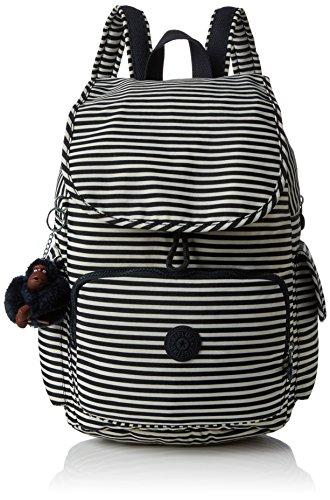 Kipling Damen City Pack Rucksack, Mehrfarbig (Marine Stripy), 32x37x18.5 cm