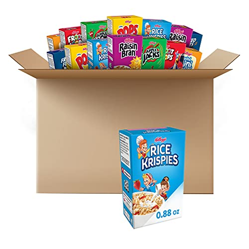 Kellogg's, Breakfast Cereal, Single-Serve Boxes, Variety Pack, Assortment Varies, (48 Count)