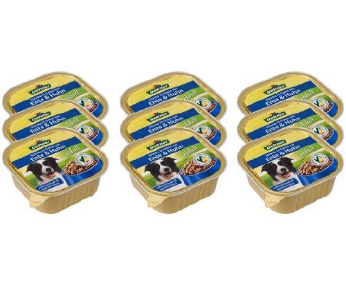 Dehner hondenvoer voor volwassenen, eenden en kip, 9 x 300 g (2.7 kg)