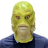 RLFDC Máscara Criatura de Halloween Monster Fish, Látex Cabeza Completa Accesorio de Cabeza, Disfraces Cosplay Novedad Partido de Pascua Carnaval de la Mascarada Decoración