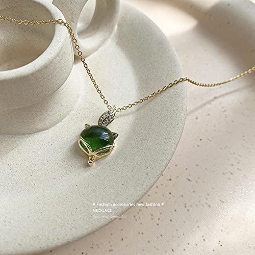 WQZYY&ASDCD Collar De Mujer Collar De Acero De Titanio para Mujer, Colgante De Lujo Ligero, Cadena De Clavícula Personalizada-1