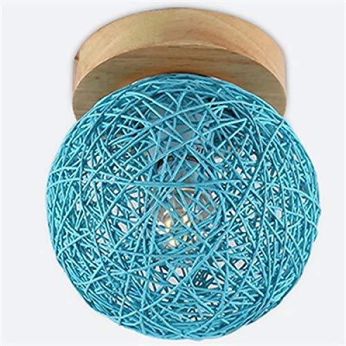 Plafondverlichting, plafondverlichting, plafondspot, woonkamerlamp, landelijke kunst, hennepbal-kunst, led-traplamp, veranda lamp, vloerlamp, zuivere en frisse lieve plafondlampen, 110 V, 220 V